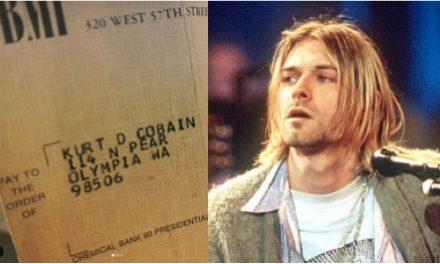 Aparece cheque a nombre de Kurt Cobain