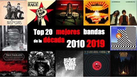 Top 20 mejores bandas de rock de la década 2010-2019