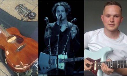 Jack White regala guitarra a músico callejero